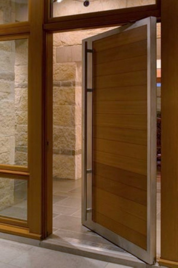 Wood and steel pivot door 600x901 adelaide home improvements for Door ventilation design